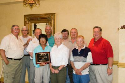 "River Run Outfitters group at celebration dinner for receiving ""2006 Orvis Outfitter of the Year"""
