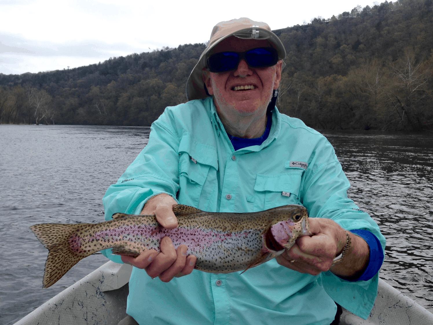 Fat fish branson trout fishing at river run outfitters for Branson trout fishing