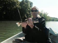 Tammi's 1st on fly rod - 5/14/16